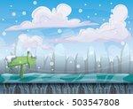 cartoon vector snow landscape... | Shutterstock .eps vector #503547808