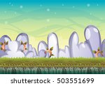 cartoon vector sky background...   Shutterstock .eps vector #503551699