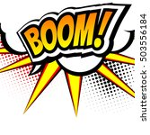 boom  pop art inspired... | Shutterstock .eps vector #503556184