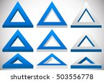 3d Triangle Shape In More...