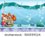 cartoon vector sky background...   Shutterstock .eps vector #503559214