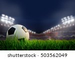 soccer field and stadium with... | Shutterstock . vector #503562049