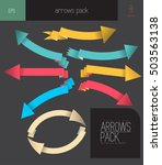 colorful abstract vector arrows ... | Shutterstock .eps vector #503563138