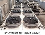 on an flat roof there cooling...   Shutterstock . vector #503563324