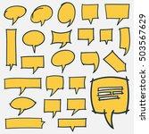set of hand drawn speech... | Shutterstock . vector #503567629
