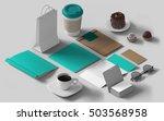 isometric mockup branding... | Shutterstock . vector #503568958