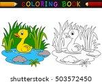 cartoon duck coloring book | Shutterstock .eps vector #503572450