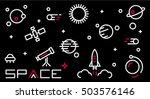 space icon set. space galaxy... | Shutterstock .eps vector #503576146