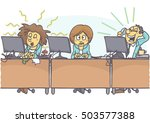 funny cartoon of woman with bad ... | Shutterstock .eps vector #503577388