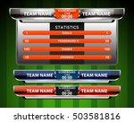 scoreboard sport template for... | Shutterstock .eps vector #503581816