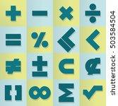 vector design set of... | Shutterstock .eps vector #503584504