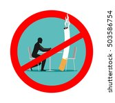 forbidden to smoke in cafes.... | Shutterstock .eps vector #503586754