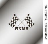 racing flag icon.   Shutterstock .eps vector #503587783