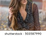 fall outfit. fashion details.... | Shutterstock . vector #503587990
