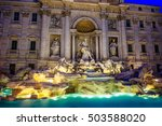 fontana di trevi   rome ital.... | Shutterstock . vector #503588020