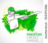 illustration of batsman playing ... | Shutterstock .eps vector #503591086