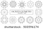 sacred geometry abstract... | Shutterstock .eps vector #503596174