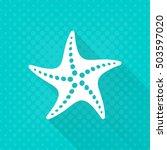 White Vector Starfish Simple...