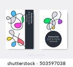 original modern brochure design ... | Shutterstock .eps vector #503597038
