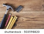 nails  hammer  pencil and... | Shutterstock . vector #503598820