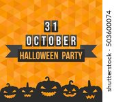 31 october calendar for... | Shutterstock .eps vector #503600074
