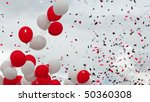 Flying confetti. - stock photo