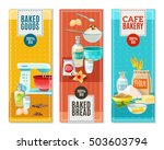 colorful flat vertical banners... | Shutterstock .eps vector #503603794