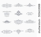 set of creative vector... | Shutterstock .eps vector #503610088