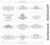 set of creative vector... | Shutterstock .eps vector #503610109