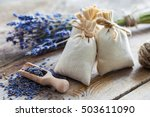 bunch of lavender flowers and... | Shutterstock . vector #503611090