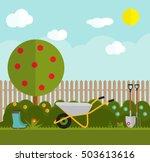 gardening flat vector. garden...