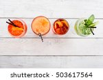four different cocktails with... | Shutterstock . vector #503617564