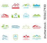 real estate logo design. house... | Shutterstock .eps vector #503617930