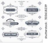 set of creative vector... | Shutterstock .eps vector #503618239
