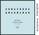 merry christmas minimal card... | Shutterstock .eps vector #503618500