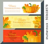 set of happy thanksgiving day... | Shutterstock .eps vector #503618578