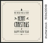 merry christmas type card... | Shutterstock .eps vector #503620048