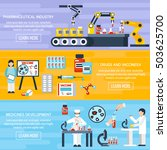 pharmaceutical production...   Shutterstock .eps vector #503625700