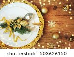 family holiday  christmas table ... | Shutterstock . vector #503626150
