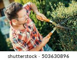 young gardener with a... | Shutterstock . vector #503630896
