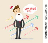 businessman dressed in santa... | Shutterstock .eps vector #503635048
