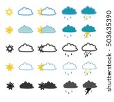 weather icons for registration... | Shutterstock .eps vector #503635390