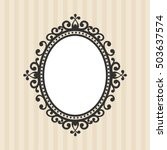 vintage mirror on the... | Shutterstock .eps vector #503637574