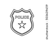 police badge outline icon on... | Shutterstock . vector #503639659