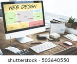 web design website content... | Shutterstock . vector #503640550