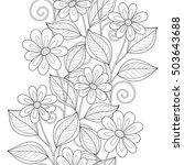 monochrome seamless pattern... | Shutterstock . vector #503643688