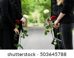 family in guard of honor at... | Shutterstock . vector #503645788