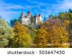 medieval dracula bran castle in ... | Shutterstock . vector #503647450