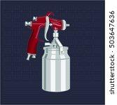 illustration airbrush. spray... | Shutterstock .eps vector #503647636