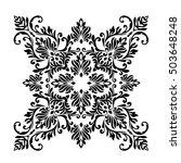vintage baroque frame scroll... | Shutterstock .eps vector #503648248